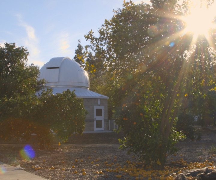 The university celebrated the opening and dedication of its solar observatory in a ceremony March 15 on campus. More than 100 CSUN leaders, students, faculty members, philanthropists and members of the community gathered to herald the move of the San Fernando Observatory to its new home in the orange grove at the southeast end of campus.